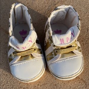 JUICY baby shoes! Excellent condition! 0-6 M